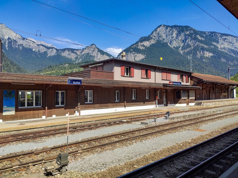stazione di Reichenau-Tamins, partenza per il rafting sul Reno Anteriore