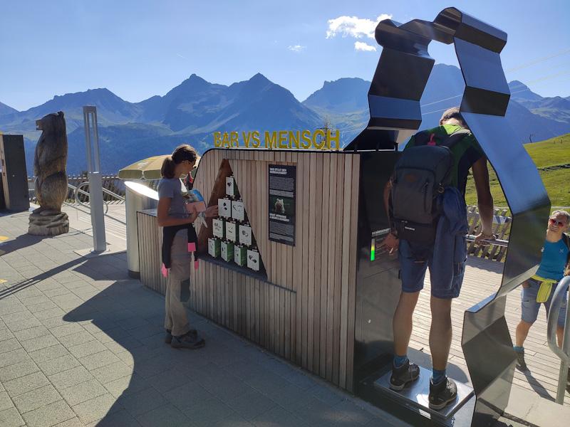 installazioni sulla piattaforma di osservazione dell'Arosa Baerenland