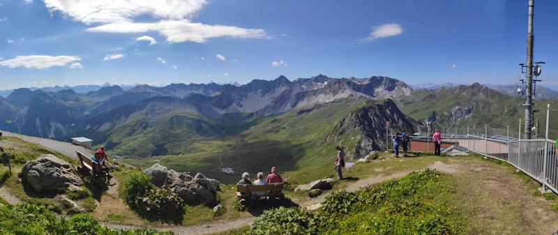 Panorama dalla vetta del Weisshorn