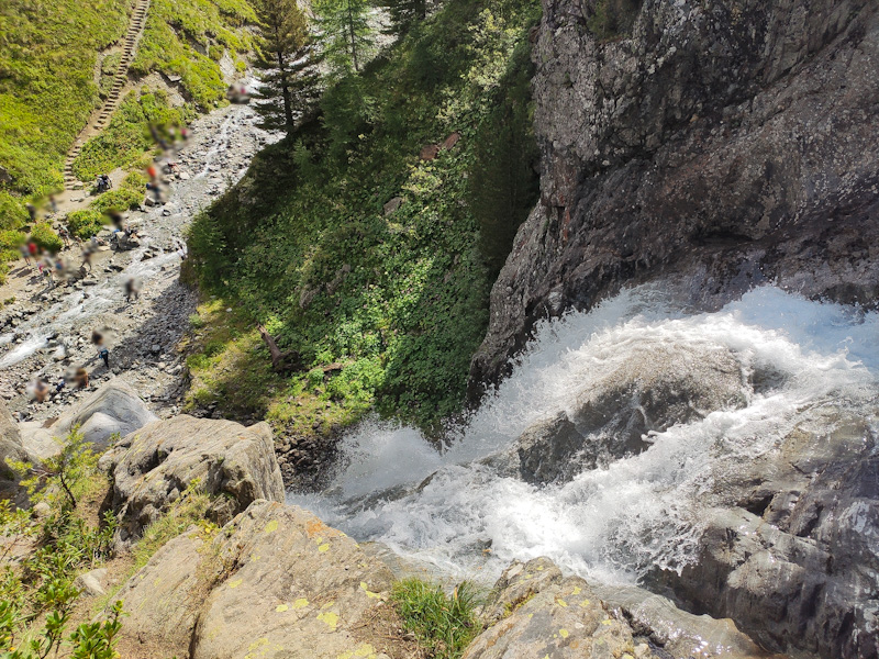 Cascata della Val Nera dall'alto