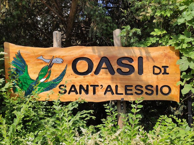 Cartello ingresso Oasi di Sant'Alessio