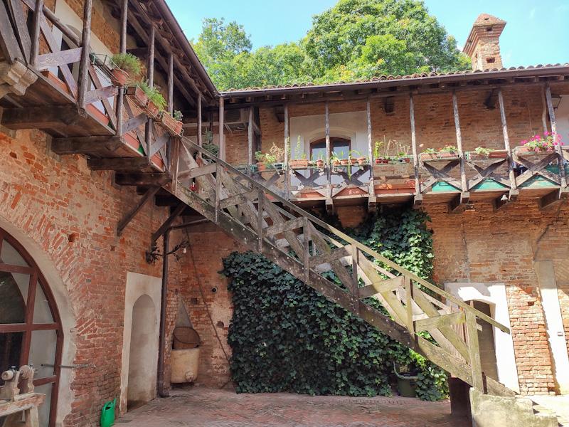 Cortile interno Oasi di Sant'Alessio